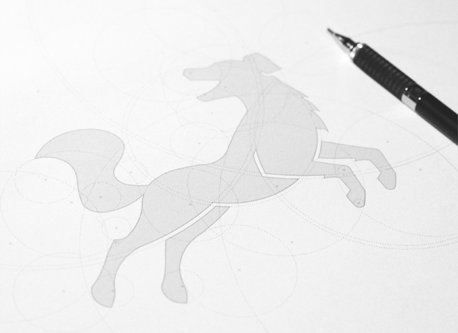 dog logo print design work inspiration progress