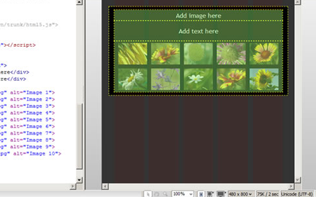 dreamweaver cs6 tutorial howto photo gallery