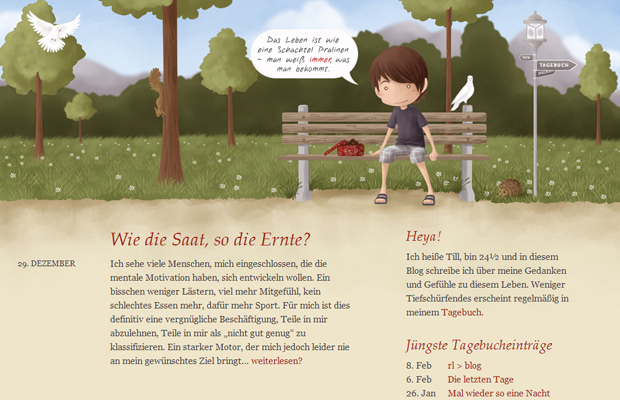 schachtel pralinen website homepage design