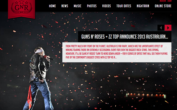guns n roses website musicians band rock n roll