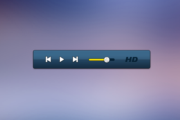 HD hidef media player music ui design