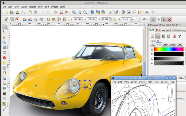 inkscape software program drawing interface gui