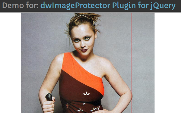 David Walsh jquery image protection script plugin