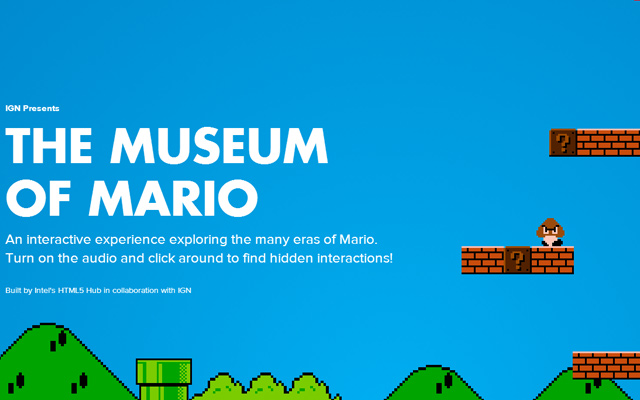 museum of mario ign animation website fullscreen