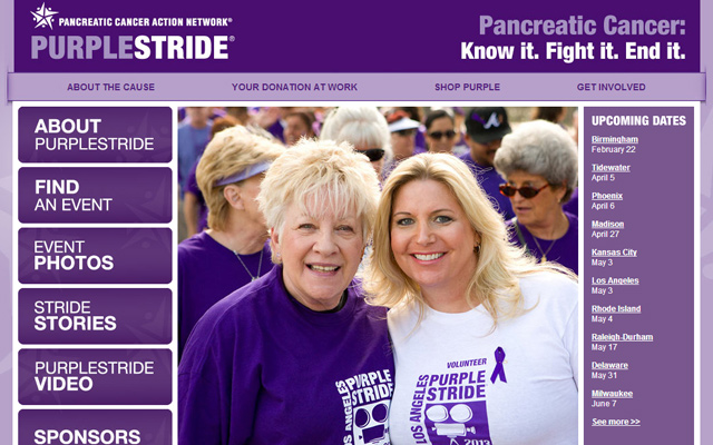purple stride pancreatic cancer website