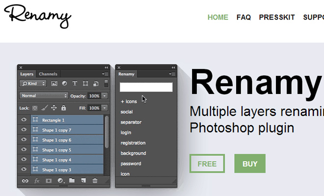 layers photoshop renamy plugin