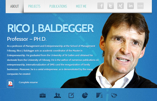 blue website layout rico baldegger