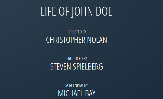 css3 animated scrolling movie credits