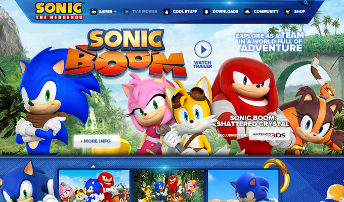 sonic the hedgehog video game page