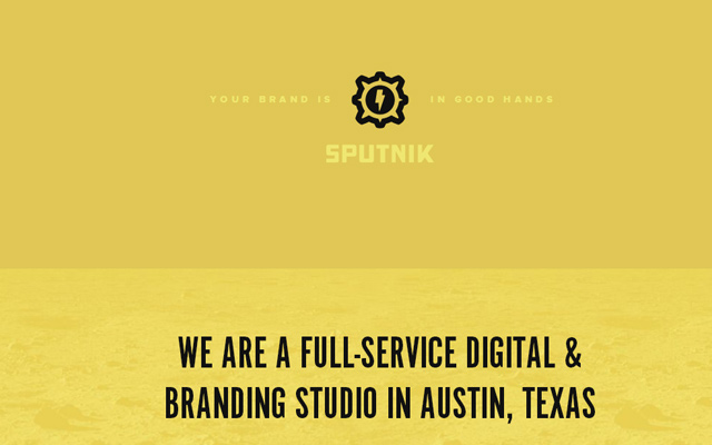 sputnik creative yellow website layout