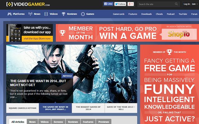 videogamer homepage blog news magazine console pc games