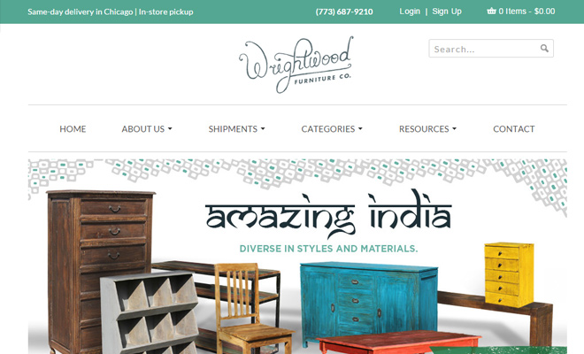 wrightwood furniture company shopify