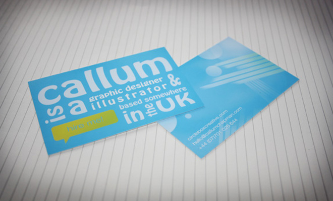 abstract print business card in photoshop