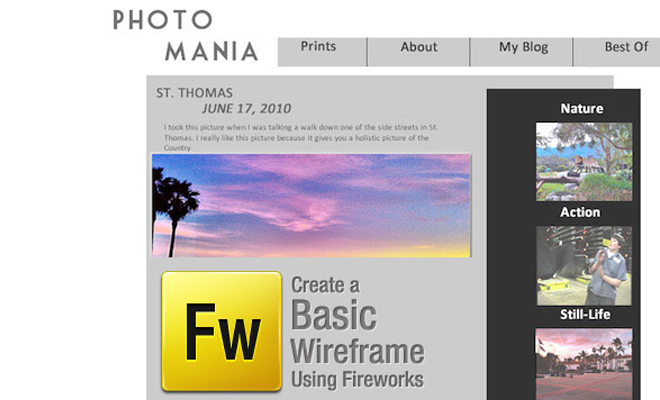 create basic wireframe tutorial adobe fireworks