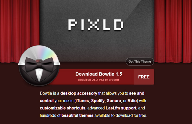 bowtie mac osx app website layout red