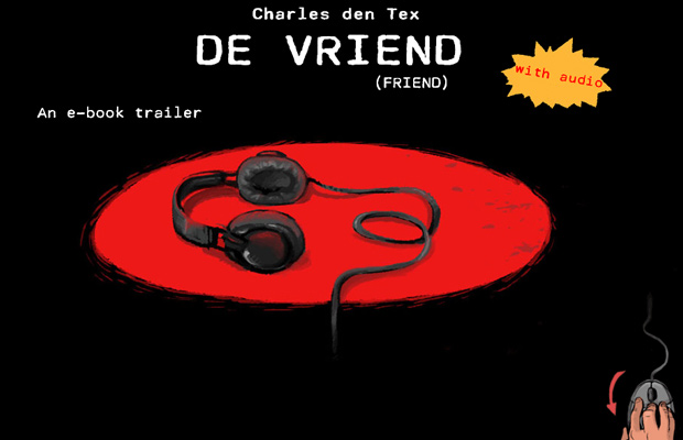 de vriend website dark layout inspiring