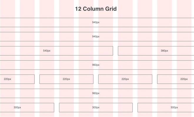 12-column-grids-structure