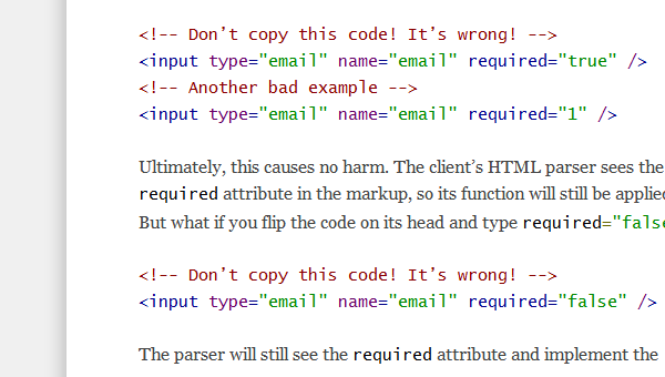 HTML5 coding tips tricks and mistakes