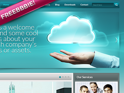 Corporate website design freebie