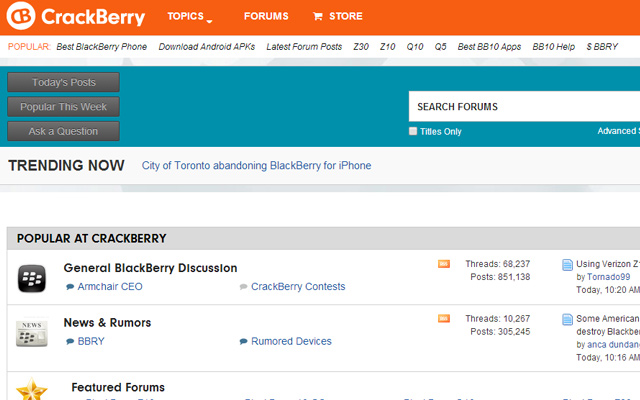 blackberry forums crackberry interface ui