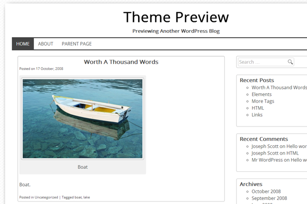wordpress white free theme dk template