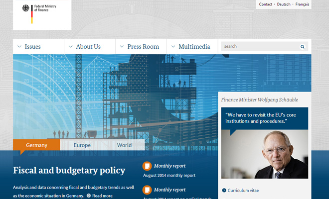 germany ministry of finance website