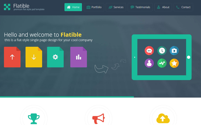 flatible singleplage html5 template web design
