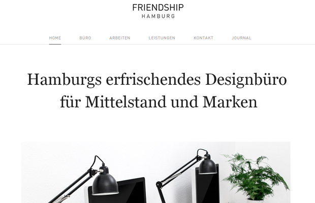 friendship hamburg germany website european design