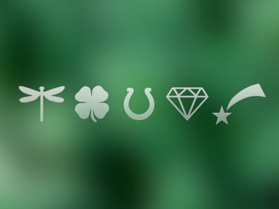green lucky charms icons interface freebie