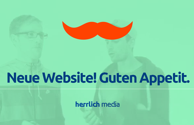 green german website layout mustache design