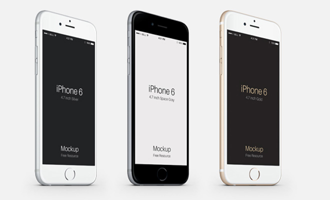 pixeden iphone6 vector psd mockup