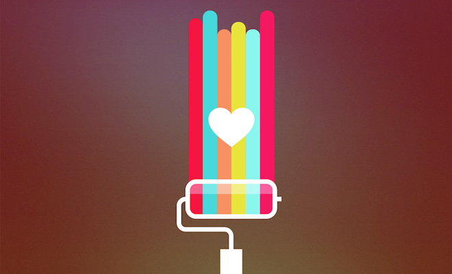 make love painting icon heart design