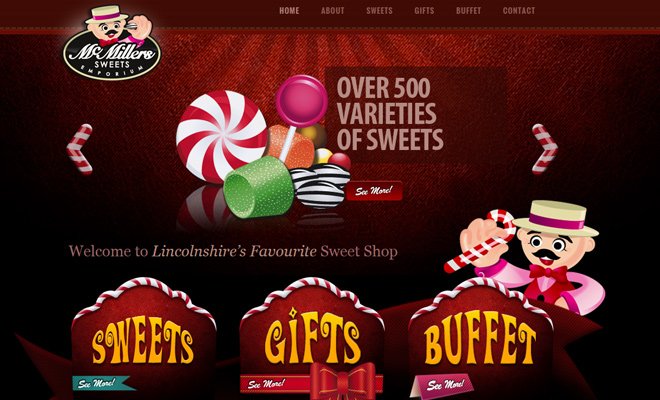 mcmillers sweets emporium red colorful homepage