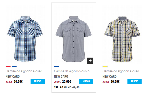 mens shirts product ecommerce list elarmario