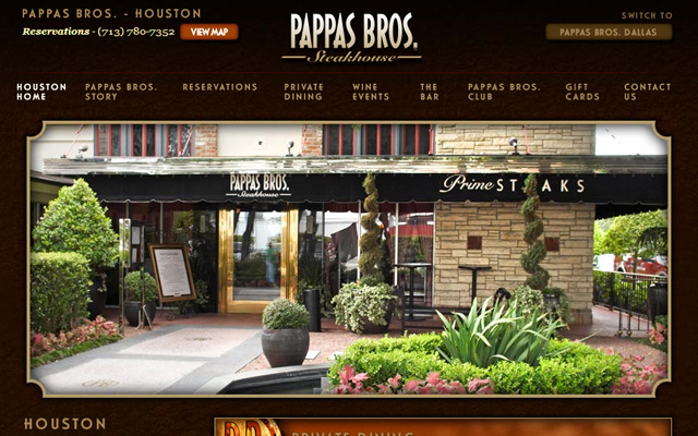 pappas brothers steakhouse website fancy texas