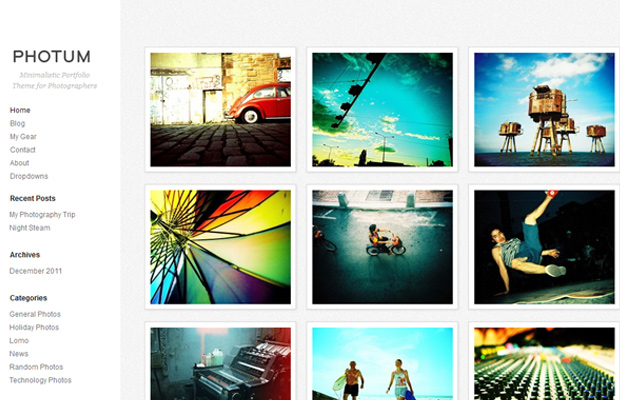 free wordpress photography theme photum