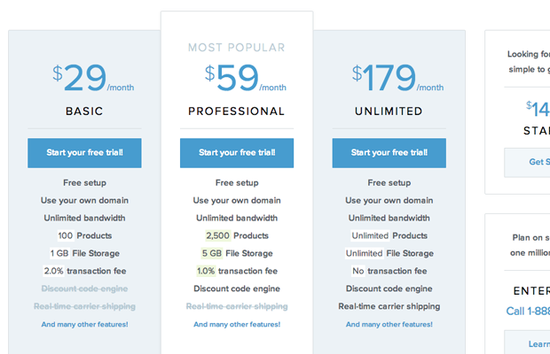 website pricing tables interface ui design