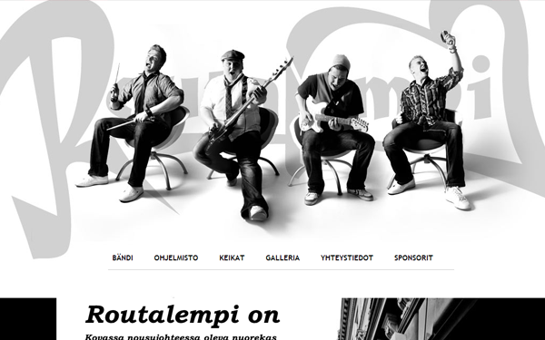 band website layout photography backgrounds routalempimusic