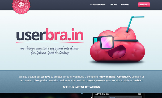 userbrain website creative agency inspiration