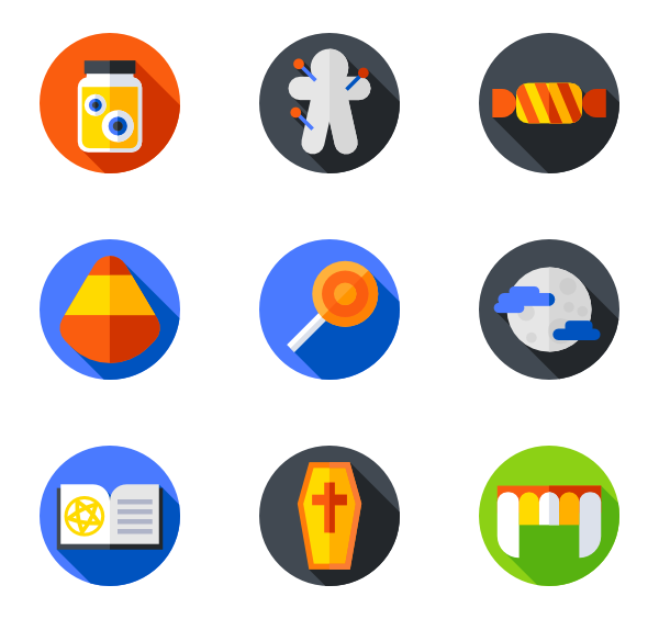 halloween flat icon pack