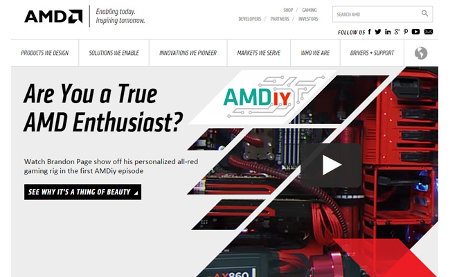 amd cpu company technology website