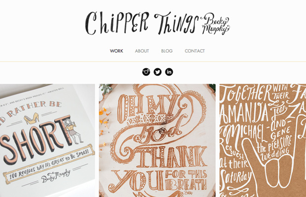 chipper things website layout becky murphy portfolio