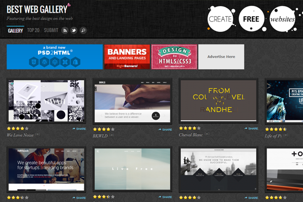 best web gallery showcase inspiring webdesign