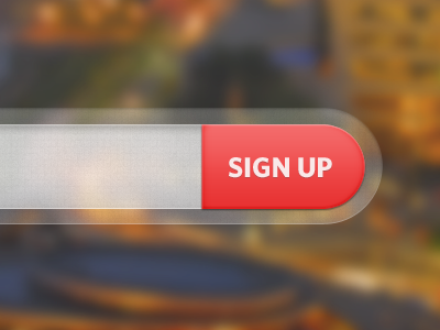 Big red button signup form textured
