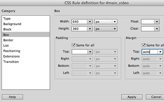 html5 video media dreamweaver cs6 tutorial