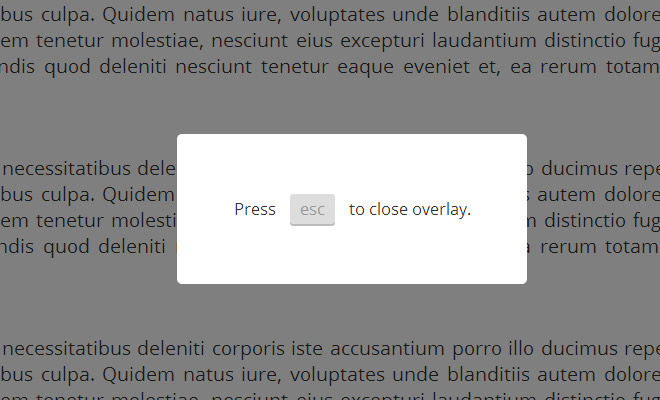 modal window esc close button