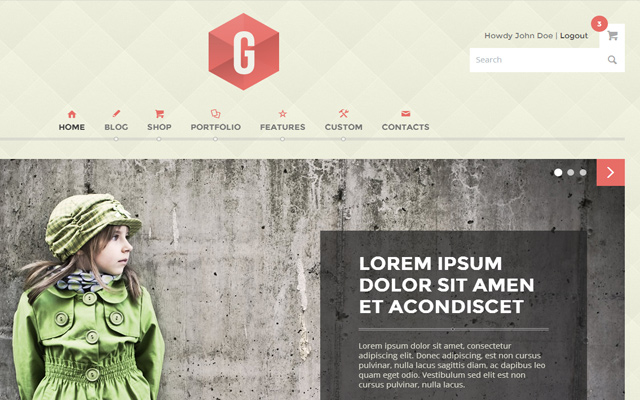 g multipurpose template html5 responsive design