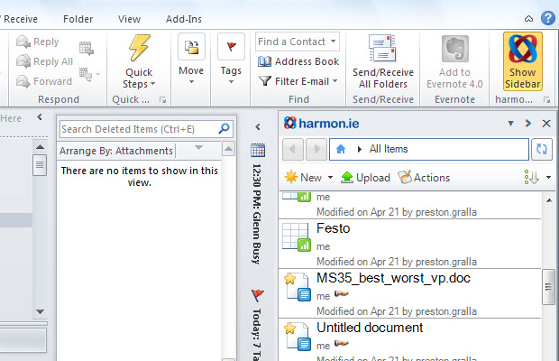harmonie google docs addin outlook office