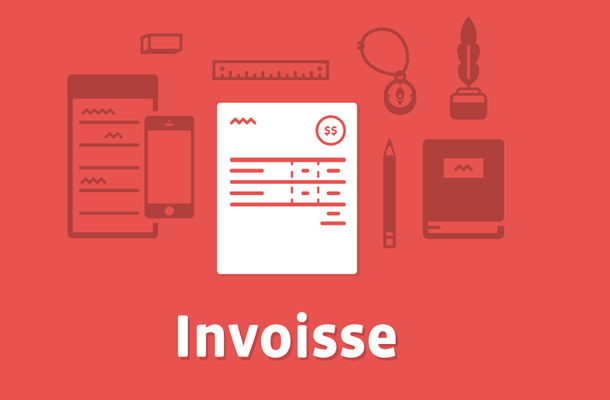 basic flat new website interface invoisee startup