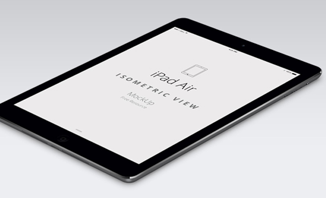 ipad air apple psd perspective mockup